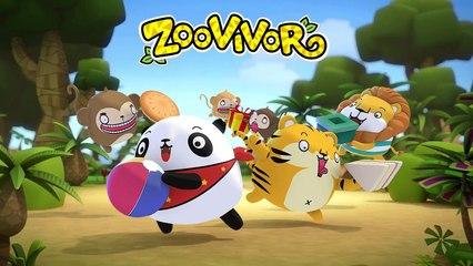 Zoovivor cartoon animation | Five Little Speckled Frogs
