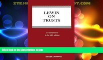 Big Deals  Lewin on Trusts: 1st Supplement  Best Seller Books Most Wanted