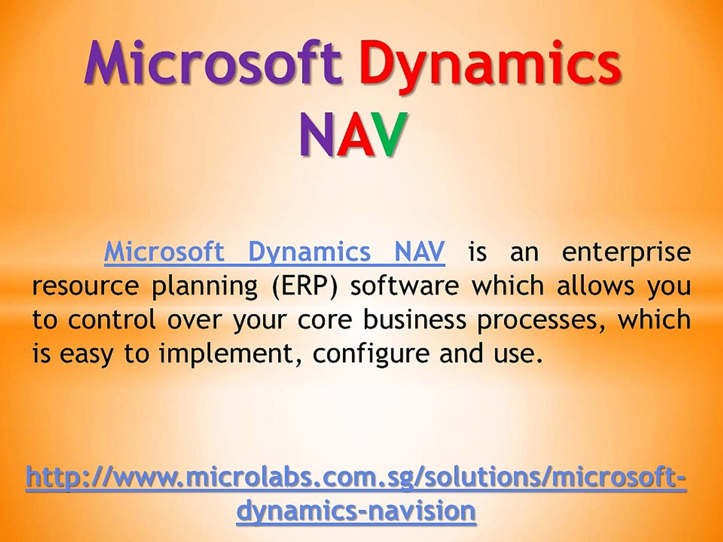 Start your business with Microsoft Dynamics NAV today