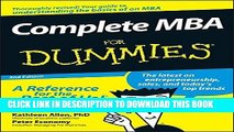 [READ] EBOOK Complete MBA For Dummies BEST COLLECTION