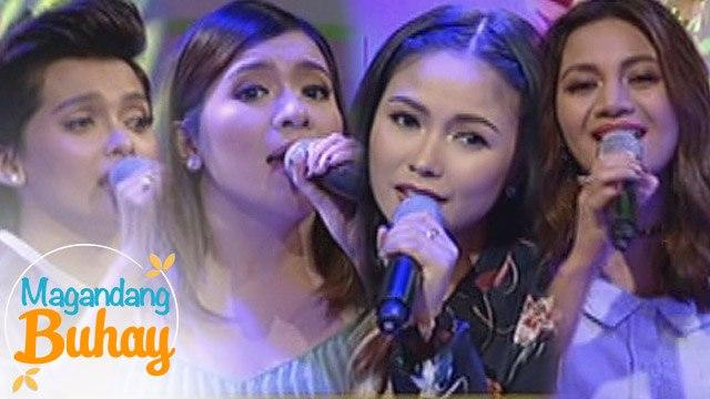 "Magandang Buhay: Yeng, KZ, Kyla & Angeline sings ""Pasko sa Pinas"""