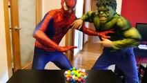 Spiderman w/ Frozen Elsa & Harry Potter vs Zombie in Real Life! Fun Superhero ft Rainbow Poo Colors