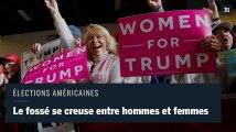 USA : le fossé homme-femme se creuse pour les élections