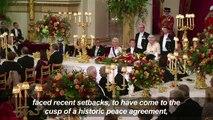 Queen Elizabeth II hosts state banquet for Colombia's Santos