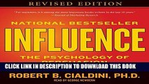 Ebook Influence: The Psychology of Persuasion Free Read
