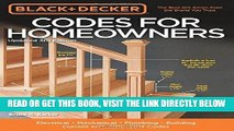[Free Read] Black   Decker Codes for Homeowners, Updated 3rd Edition: Electrical - Mechanical -