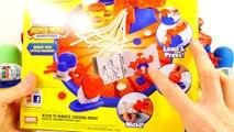 Play Doh Spider-Man Super Tools Kinder Surprise Marvel Superhero PlayDough Eggs