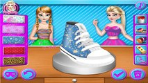 Permainan Frozen Elsa and Anna Shoe Decor -Play Games Frozen Elsa and Anna Shoe Decor