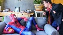 Harry Potter vs Invisible Spiderman Fun Superhero ft Frozen Elsa, Shark Attack in Real Life