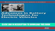 [Free Read] Advances in Battery Technologies for Electric Vehicles (Woodhead Publishing Series in