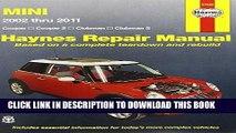[PDF] Mini Cooper, Cooper S, Clubman   Clubman S: 2002 Through 2011 (Haynes Repair Manual) Popular