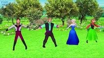 Frozen Elsa Kristoff Cartoon Finger Family Nursery Rhymes | Frozen Songs Childre