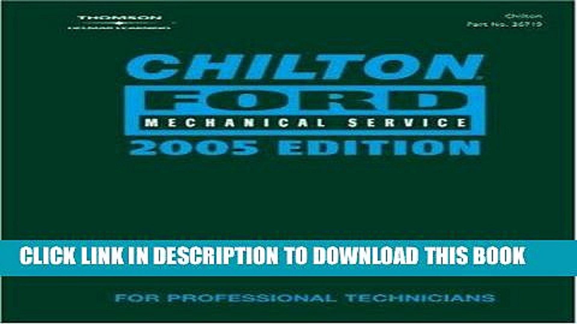 [PDF] Chilton 2005 Ford Mechanical Service Manual: (2001-2005) Popular Online