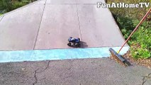 GIANT RC MONSTER TRUCK Remote Control Racing Cars at Skate Park FunAtHomeTV