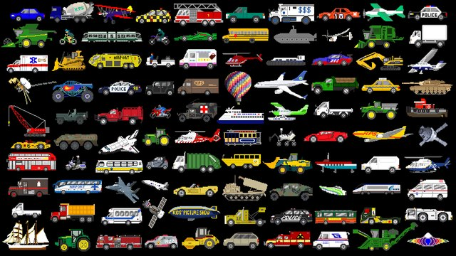 Counting to 100 with Vehicles - Construction, Farm, Air & Street Vehicles  - The Kids' Picture Show
