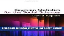 [DOWNLOAD] PDF Bayesian Statistics for the Social Sciences (Methodology in the Social Sciences)