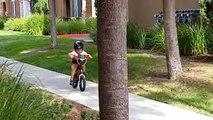 3 year old Josiah crashes his bike(360p)