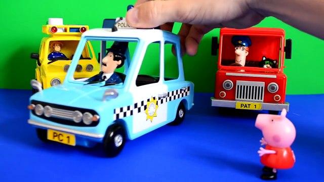 Peppa Pig Postman pat fireman sam episode The Car Show peppa pig toys fireman sam
