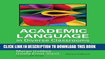 Ebook Academic Language in Diverse Classrooms: Definitions and Contexts Free Read
