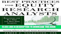 Ebook Best Practices for Equity Research Analysts:  Essentials for Buy-Side and Sell-Side Analysts
