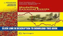 Ebook Modelling Extremal Events: for Insurance and Finance (Stochastic Modelling and Applied