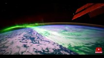 Video Stunning Aurora Borealis From Space in (4k) , Aurora boreal grabado desde el espacio