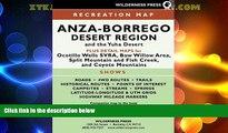 Big Deals  MAP Anza-Borrego Desert Region  Full Read Best Seller
