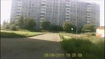 Ce conducteur russe est le pire désastre possible... Accident de fou !