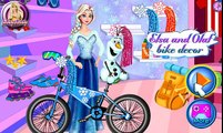 Disney Princess Frozen Elsa - Elsa and Olaf Bike Decor Best Baby Games