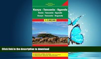 FAVORIT BOOK Kenya / Tanzania / Uganda FB 1:2M 2013 (English, French and German Edition) PREMIUM