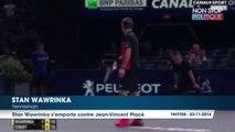 Stan Wawrinka recadre Jean-Vincent Placé en plein match à Paris Bercy