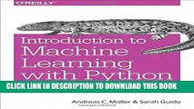Ebook Introduction to Machine Learning with Python: A Guide for Data Scientists Free Read