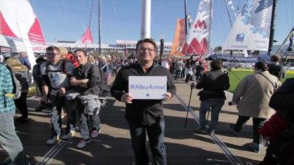 Les supporters d'Armel #AllezArmel - Voile Banque Populaire