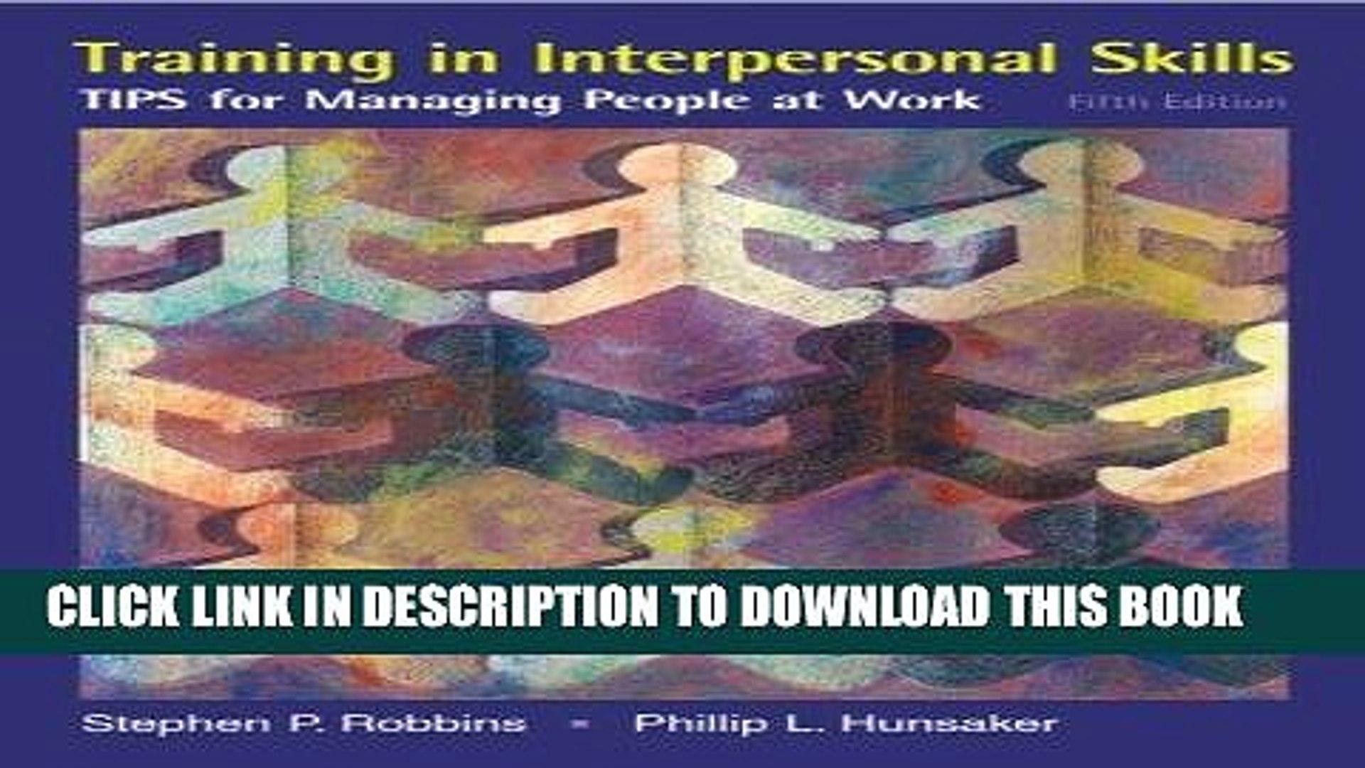 training in interpersonal skills robbins free download