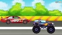 ✔ Dessin animé voiture. Monster Truck, Voiture de course. Voiture pour enfan. Tiki Taki Voitures ✔