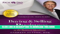 [Ebook] Rich Dad Advisors: Buying and Selling a Business: How You Can Win in the Business Quadrant