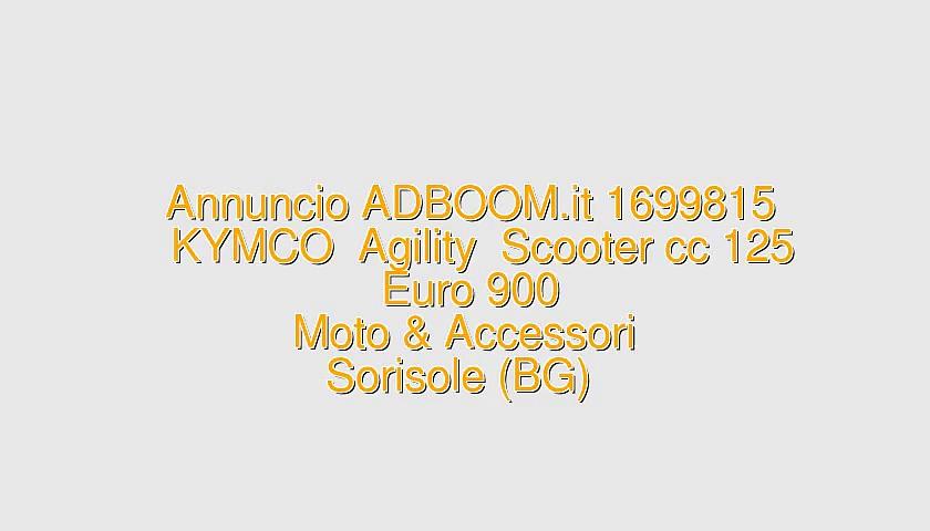 KYMCO  Agility  Scooter cc 125