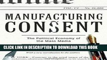 [READ] EBOOK Manufacturing Consent: The Political Economy of the Mass Media ONLINE COLLECTION