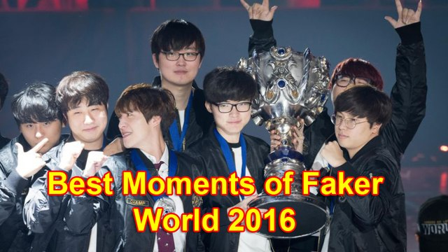 """Best moments of """"Demon King"""" Faker at World Championship 2016"""