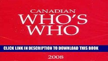 Best Seller Canadian Who s Who 2008 - CD only: Volume XLIIIs (Canadian Who s Who on CD-ROM) (v.