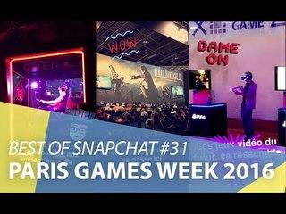 Best-of Snapchat #31 : En visite à la Paris Games Week 2016