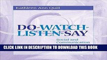 [READ] EBOOK Do-Watch-Listen-Say: Social and Communication Intervention for Children with Autism