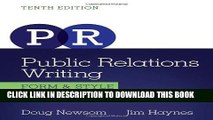 Ebook Public Relations Writing: Form   Style (Wadsworth Series in Mass Communication and