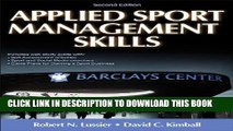 Ebook Applied Sport Management Skills-2nd Edition With Web Study Guide Free Read