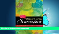 FAVORITE BOOK  Content-Area Conversations: How to Plan Discussion-Based Lessons for Diverse