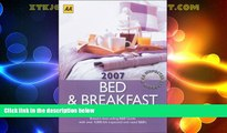 Big Deals  AA Bed   Breakfast Guide 2007: Britain s Best-Selling B B Guide (AA Lifestyle Guides)