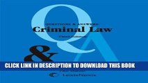 [FREE] EBOOK Questions and Answers: Criminal Law (Questions   Answers) ONLINE COLLECTION