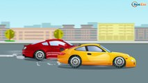 Emergency Cars Cartoon - Police Cars Race in the town! Racing Cars Cartoon for kids Episode 71