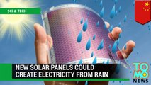 Future green technology - new solar panels could generate electricity from raindrops - TomoNews-6K2smAj8cFU