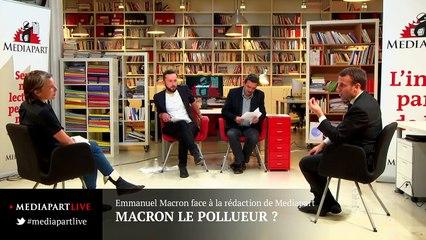 «En direct de Mediapart» : Macron le pollueur ?